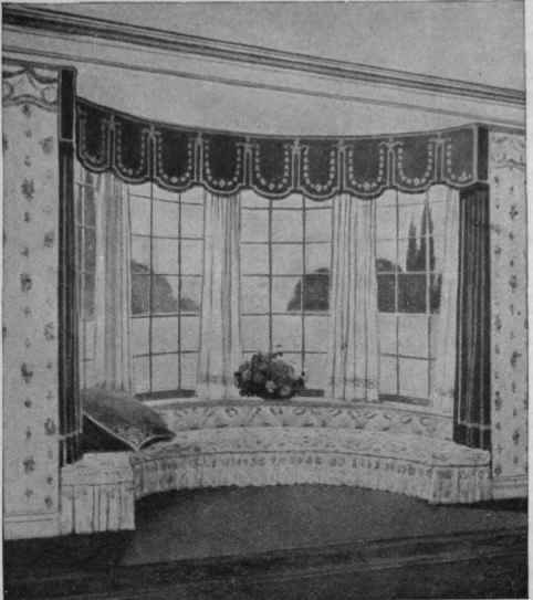 Drawn curtain casement #14