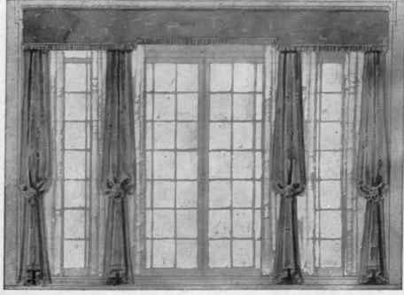 Drawn curtain casement #8