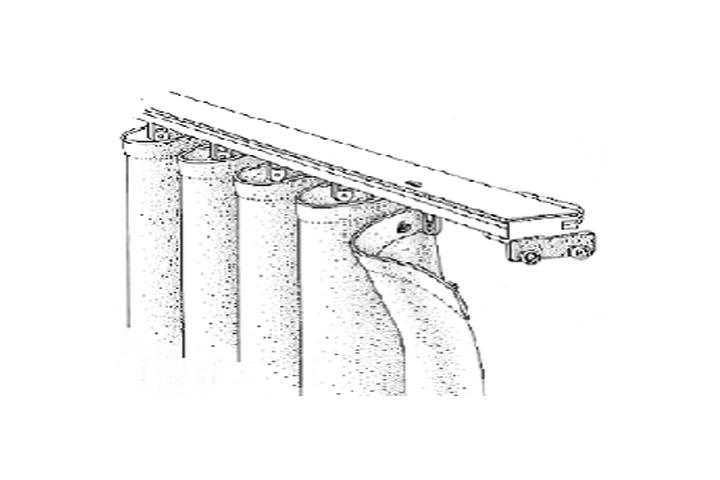 Drawn curtain folded #2