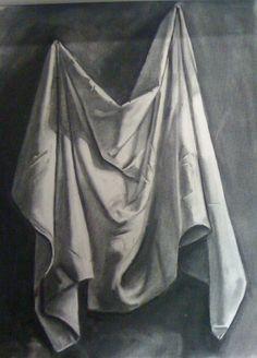 Drawn curtain folded #8
