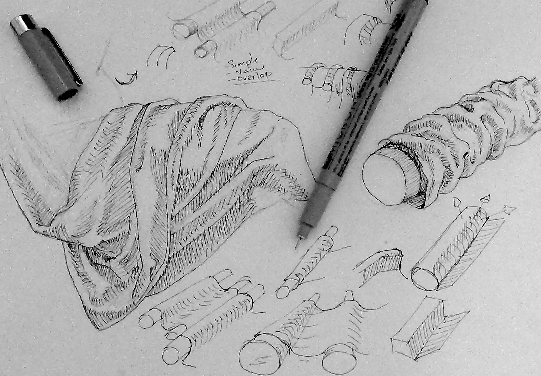 Drawn curtain folded #7