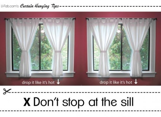 Drawn curtain Length Sill Window Curtain Length