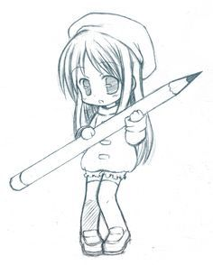 Drawn cute anime ADORABLE! chibi+drawings deviantART *CatPlus easy