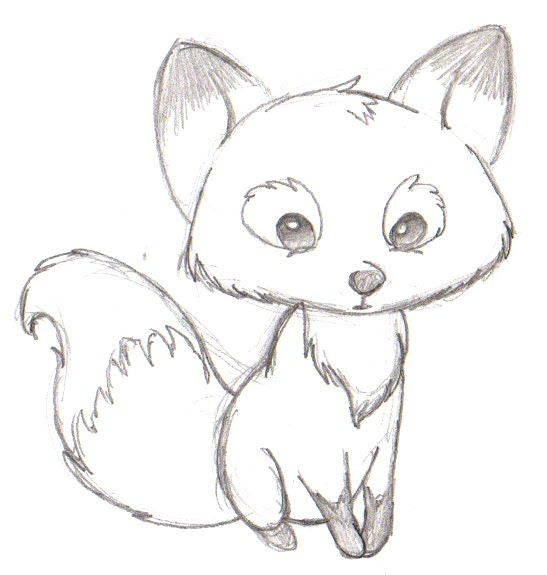 Drawn snow sun Fox Search cartoon easy drawing