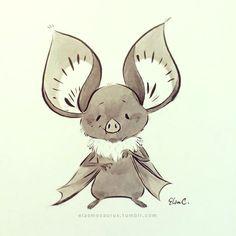 Drawn cute bat Elsa Elsa Chang Cute /