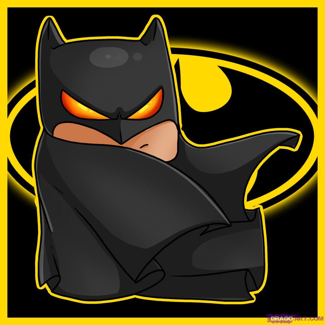 Drawn cute batman Batman chibi Chibis Draw Draw