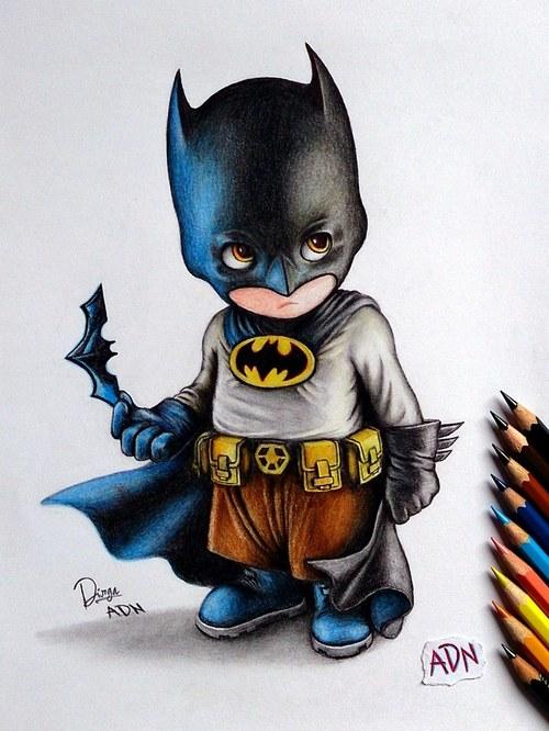 Drawn cute batman Batman Baby drawing batman drawing