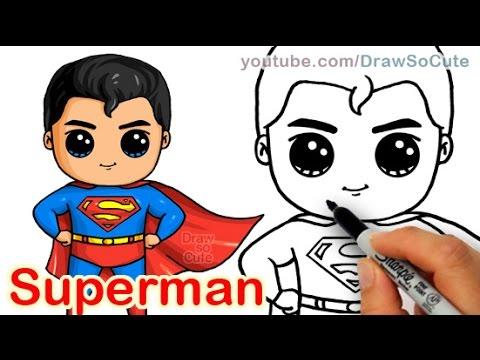 Drawn cute batman Superman Draw Steel by to
