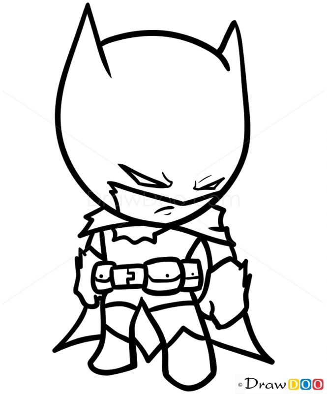 Drawn pice batman How  Chibi Draw How