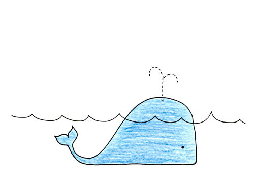 Drawn ocean simple By Drawing Ocean Whale LittleShopofElleSee