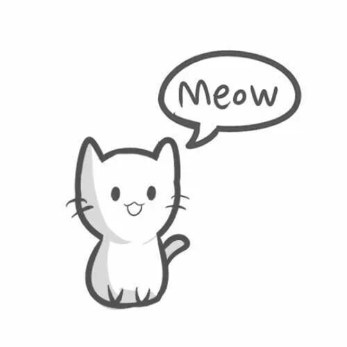 Drawn cute cat A to Search to draw