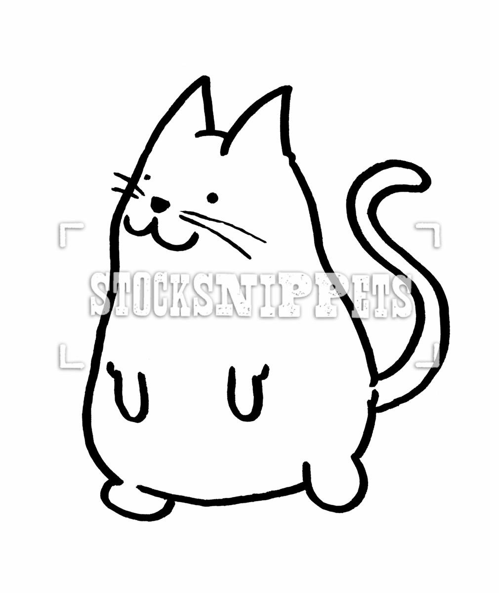 Drawn cute cat Drawn Stocksnippets Free Cat Hand