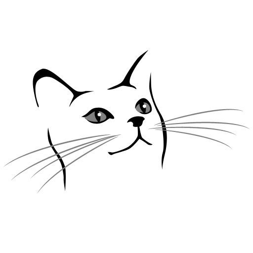 Realistic clipart cat face #6
