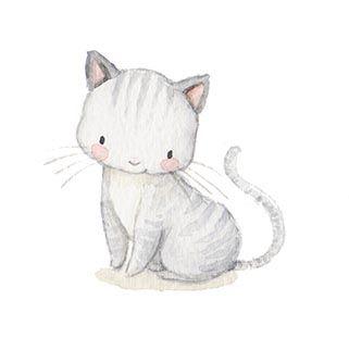 Drawn kitten cute pet Ilustracion Best on Baby ideas