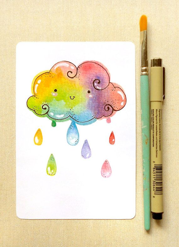 Drawn rainbow cute Wall Best Girls Print Art