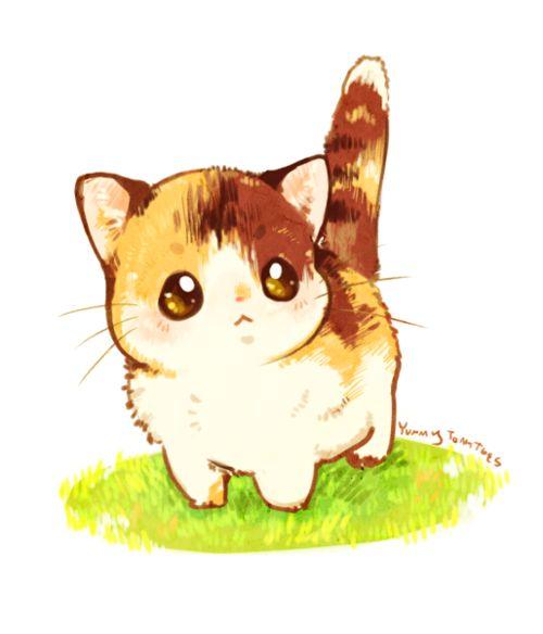 Drawn kitten anime Cute on Cute cat cat