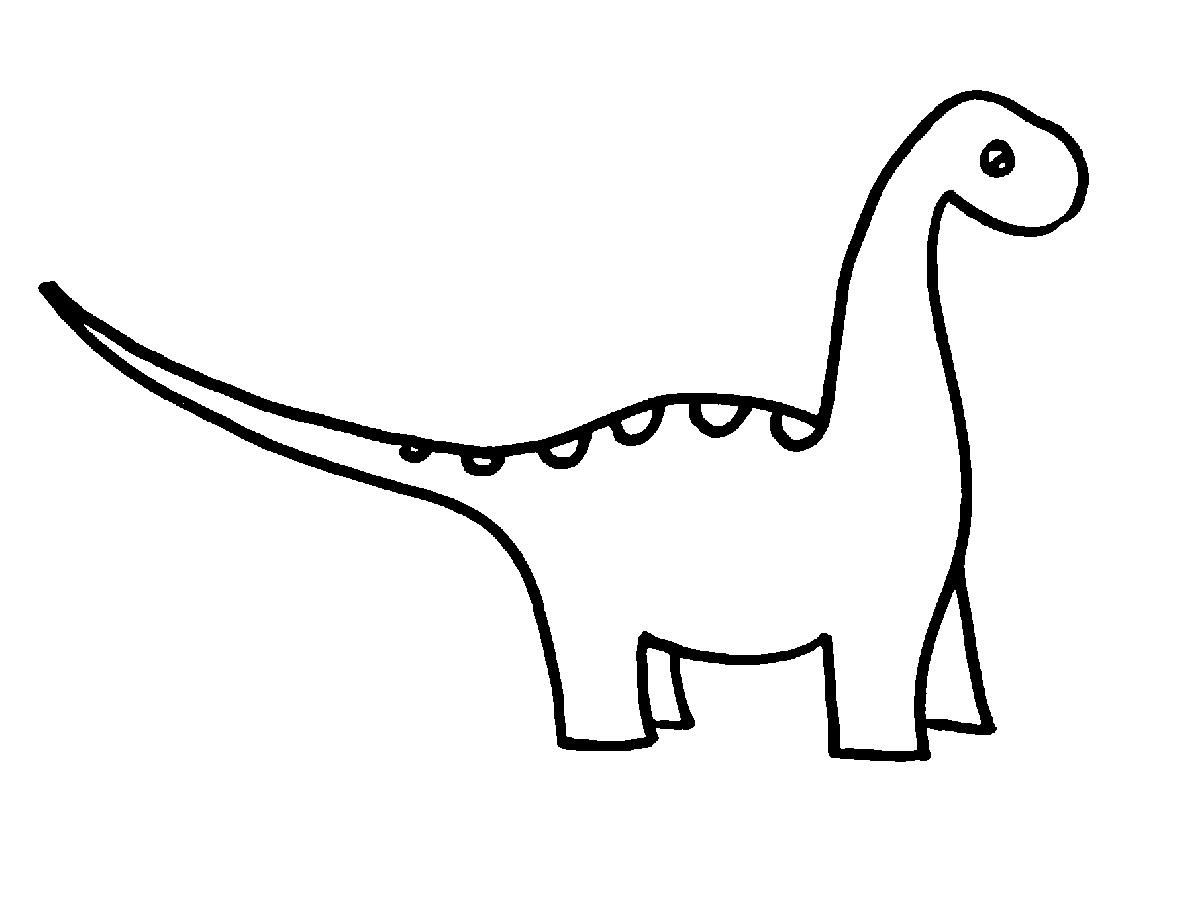 Whit clipart dinosaur Easy To Draw Draw Within
