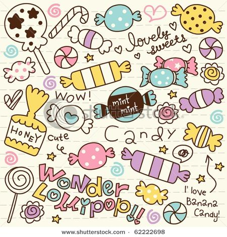 Drawn sweets easy Best Doodle Vinyl We Candy