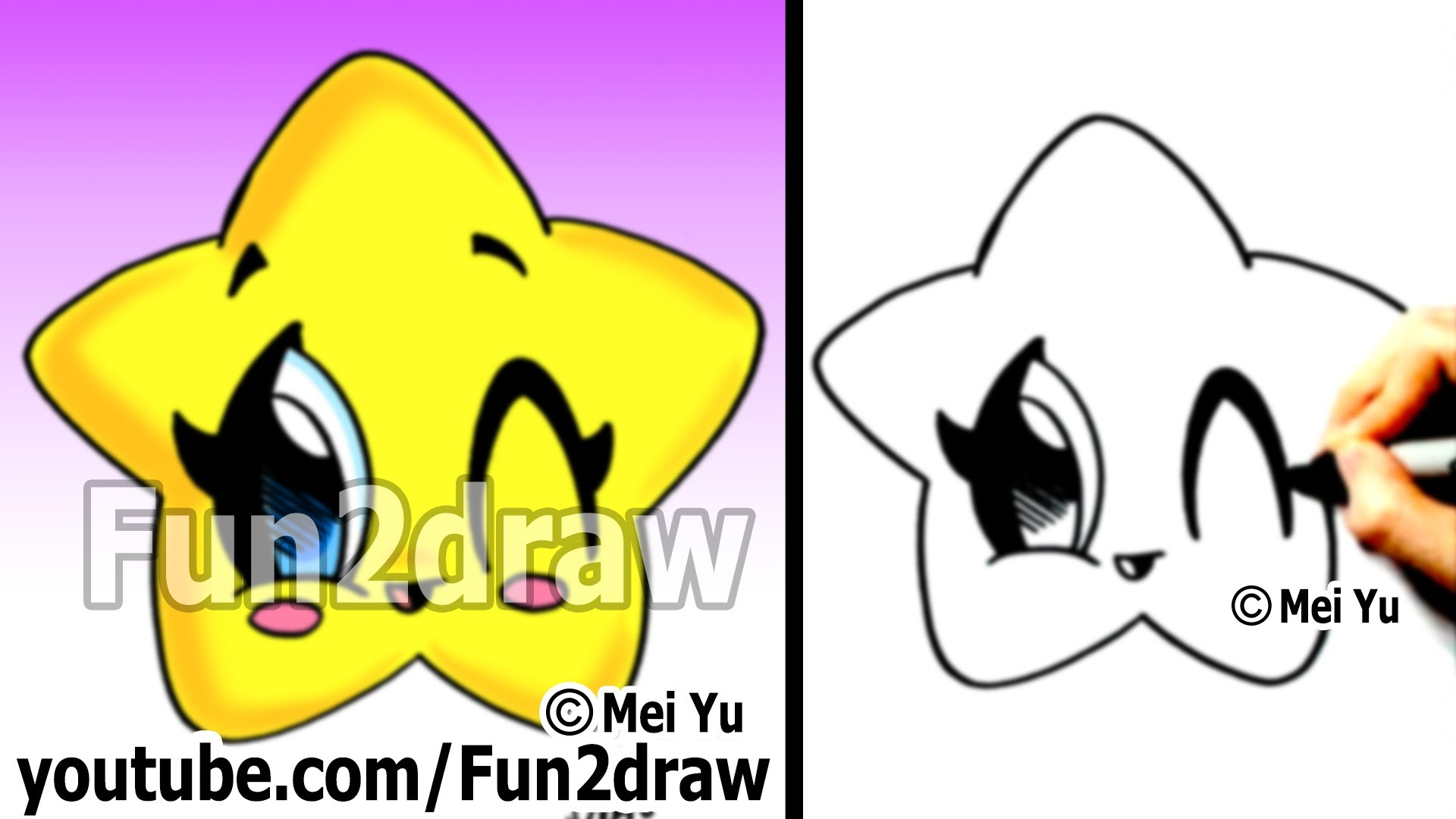 Drawn star different Draw Easy To Coloring Draw