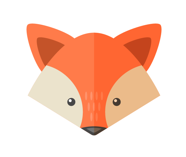 Drawn cute fox face To add in How Set