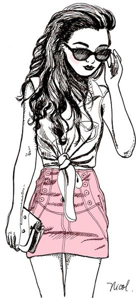Drawn cute girlfriend tumblr Girl on images drawing Tumblr