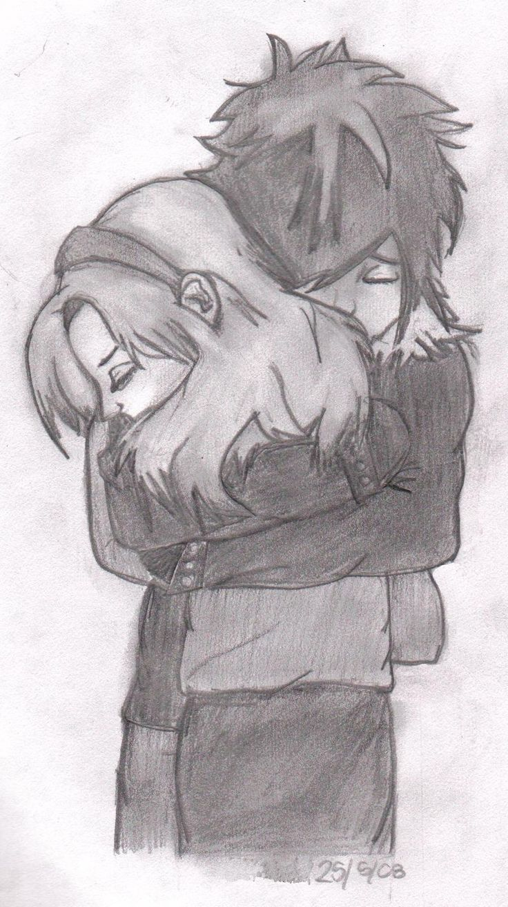 Drawn cute hug #14