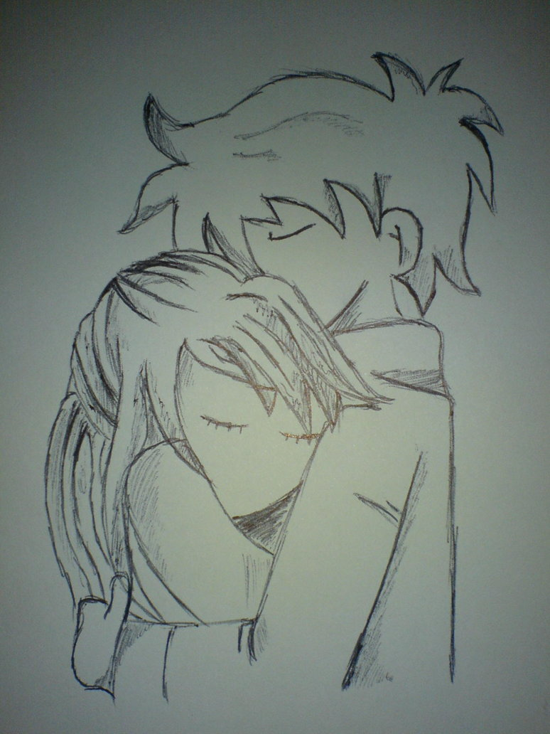 Drawn cute hug #11