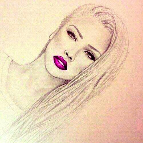 Drawn cute lip All About About girl drawing