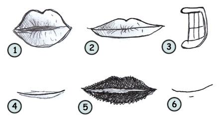 Drawn cute lip Cartoon draw lips step 4