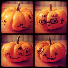 Drawn pumpkin sharpie Drawn Sharpie carving