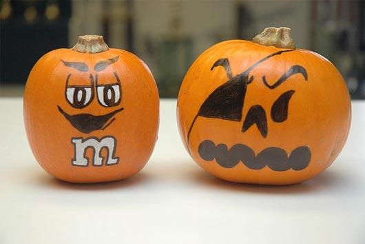 Drawn pumpkin funny Pumpkin Painting painting  Halloween
