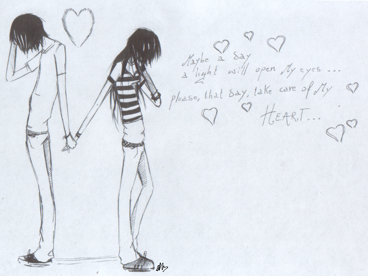 Drawn cute romantic #3