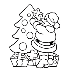 Drawn cute santa For Ones Santa Pages Little