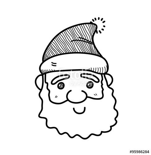 Drawn santa cute Santa Search