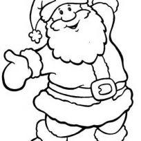 Drawn cute santa Coloring Santa with Holiday x