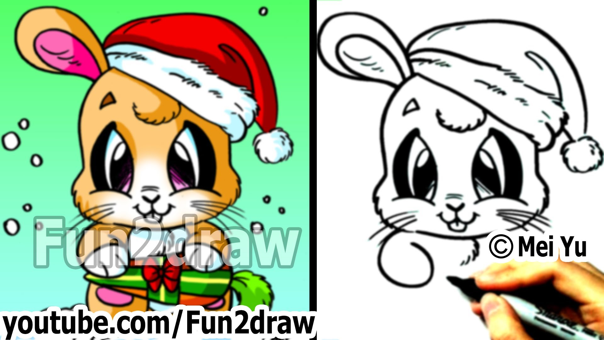 Drawn puppy fun christmas Santa How Time from Christmas