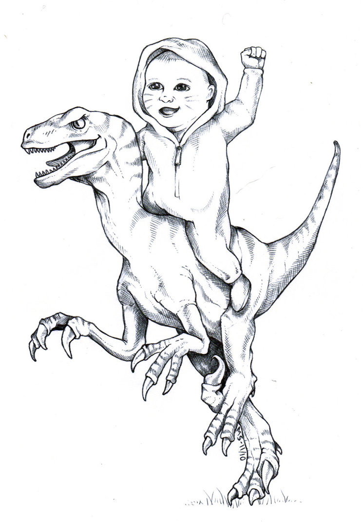 Drawn cute velociraptor By ethical be or scientific
