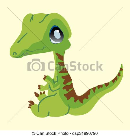 Drawn cute velociraptor Baby  Dinosaur Raptor EPS