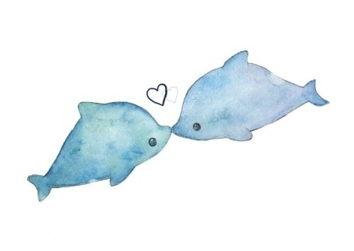 Drawn dolphins cute Cute Tumblr Pinterest on Image