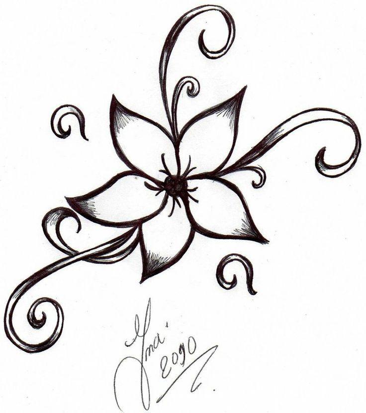 Drawn floral simple #15