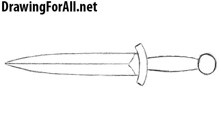 Drawn dagger Dagger net a drawing Draw