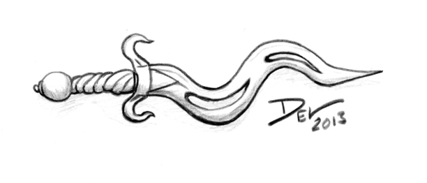 Drawn dagger curvy By Curvy mavfire Dagger Final