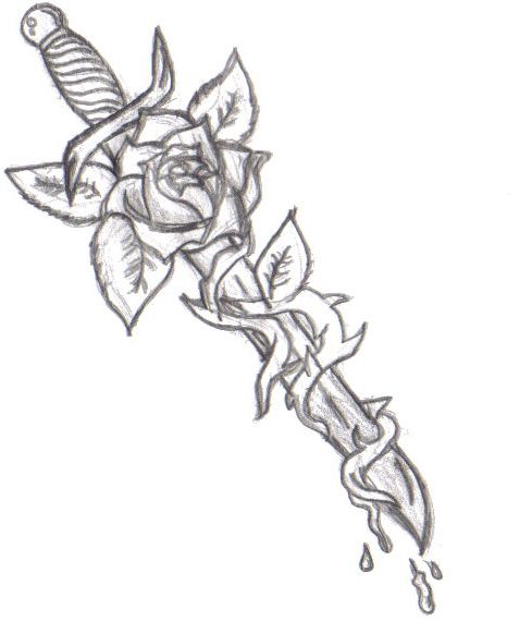 Drawn dagger curvy Rose images on dagger Pinterest