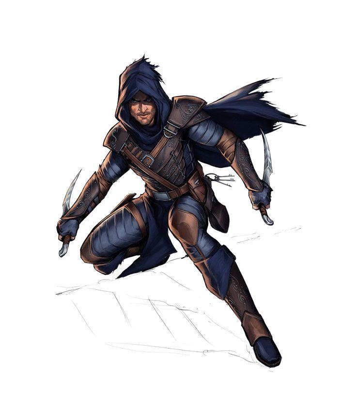 Drawn dagger d&d Fantasy Cutthroats 404 on Rogue