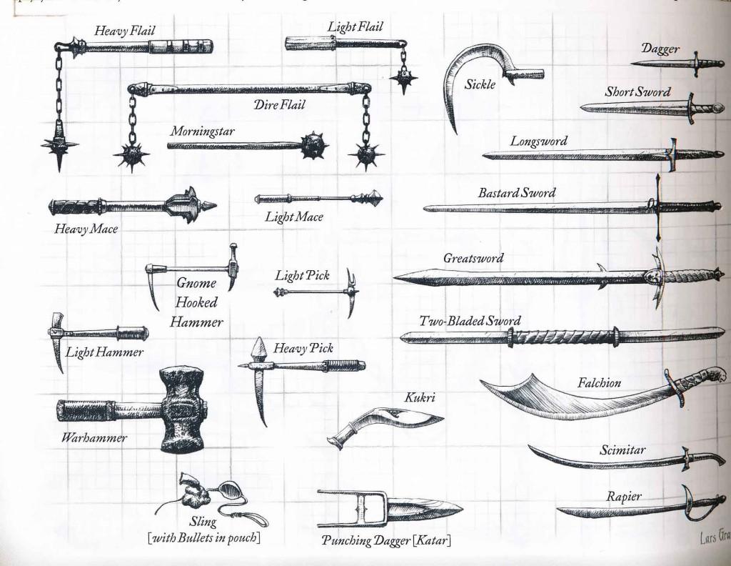 Drawn dagger d&d Handbook Items 80 on the