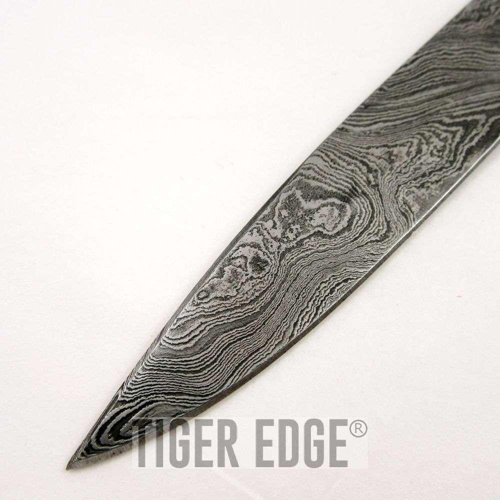 Drawn dagger double edged Damascus Dagger Sheath Rosewood Knife
