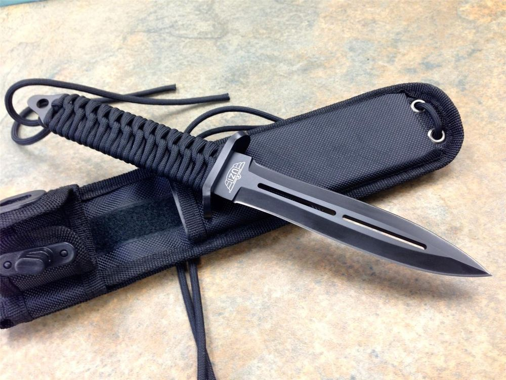 Drawn dagger double edged UZI Tactical  Fixed Fighting