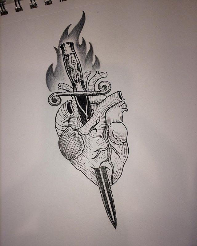 Drawn dagger famous Pinterest and tattoo dagger