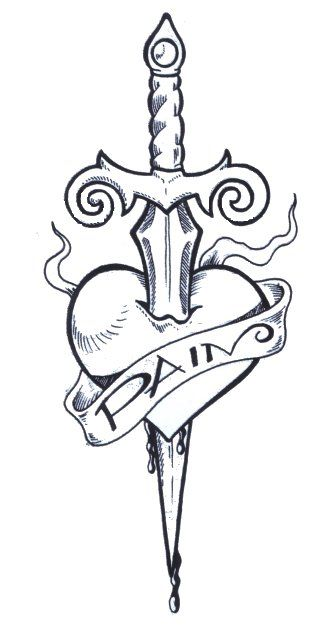 Drawn dagger heart dagger 15 images Designs With dager