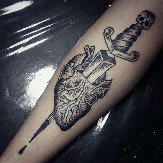 Drawn dagger heart dagger Bladed Dagger For Guys Designs